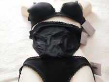 CALVIN KLEIN BLACK  Bra and 2 X PANTIES size 12B   new $ 180.00