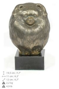 Pomeranian, dog bust marble statue, ArtDog Limited Edition, AU
