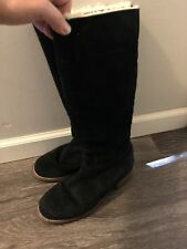 UGG Knee High Black Suede Boots -GUC!