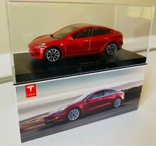 Genuine OEM Tesla Model 3 Burago Diecast 1:43 Gift Red Toy EV Car Elon Musk SXY