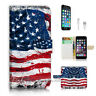 ( For iPhone 7 Plus ) Wallet Case Cover P2184 American Flag