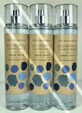 3 Bath Body Works*Wildberry & Chamomile*Fragrance Mist Spray*Free Priority Ship