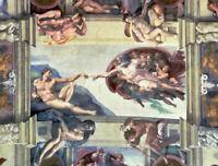 Sistine Chapel Ceiling Creation Of Adam Michelangelo Fine Art Print on CANVAS SM