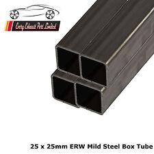 acier mi-dur Erw Boîte 25mm x 1.5mm, 1000mm long - Paquet de 10 - Tube carré