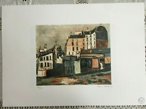 Utrillo Maurice Lithography cm 50x70 with authentic certificate edition 1995