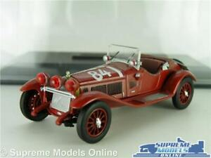 ALFA ROMEO 6C 1750 MODEL CAR 1929 RED MILLE MIGLIA RACING 1:43 SIZE IXO + CASE K