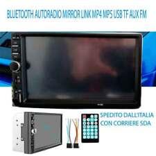 "2DIN HD 7"" BLUETOOTH AUTORADIO MIRROR LINK MP4 USB TF AUX FM REGALO RETRO CAMERA"