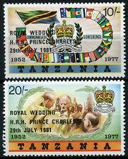 Tanzania 1981 SG#325-6 Royal Wedding MNH Set #R408