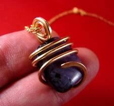 Grape Purple Russian Chaorite Pendant Bronze Merlin's Gold #15