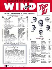"""Rare Chicago Radio WIND 560 """"Top 21"""" Music Survey 1958 Buddy Holly Jerry Lee"""