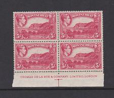 MONTSERRAT 1938 5/- IN IMPRINT BLOCK SG 110 MNH.