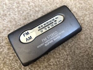 Rare Aiwa CR-A55 FM-AM Portable Radio Receiver Works Perfectly With Super Bass