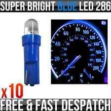 12v 1.2 W T5 5mm Super brillante LED azul Wedge coche Dashboard Speedo bombillas 286 X 10