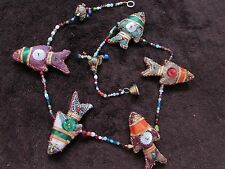 Indian Mobile Handmade Fish Long Quality Wall Door Window Hanging 100cm