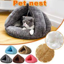 Pet Cat Dog House Kennel Puppy Sleeping Cave Mat Pad Winter Warm Soft Nest Bed B