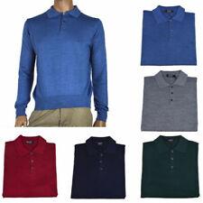 OFFICINA TESSILE maglia polo uomo lana invernale made in italy M L XL 2XL 3XL