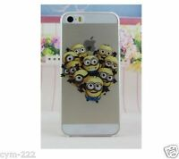 ★Coque Case HOUSSE silicone Iphone 4 5S 5S 6S + Minions Moi Moche Méchant Family