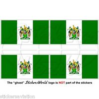 RHODESIA Rhodesian Flag 1968-1979 50mm Vinyl Bumper-Helmet Stickers Decals x4
