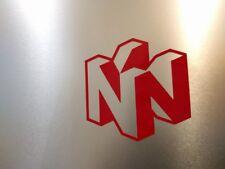 "2 Pack Nintendo N64 Logo Vinyl Decal sticker Gloss Red 2"" x 2"""