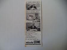 advertising Pubblicità 1962 MISCELA LEONE