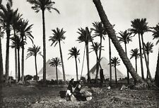 1934 Vintage EGYPT Pyramids Nile Palm Tree Landscape Photo Art 11x14 ~ HURLIMANN