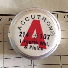 Bulova Accutron 214, Fourth Wheel & Pinion Part #107, NOS, Stainless Steel(SS)