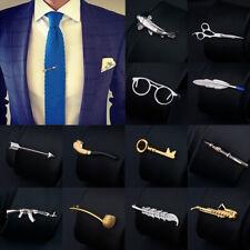 Men Metal Tie Clip Bar Necktie Pin Clasp Clamp Sliver Gold Pin Wedding Gift Clip
