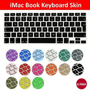 """Colored Soft Keyboard Case Cover Protector for Apple Macbook Air Pro 13.3"""" 15.4"""""""