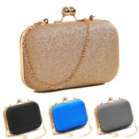 Women Luxury Party Wedding Clutch Purse Sparkling Evening Prom Bag Chain Wallet