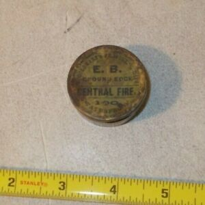 Vintage FULL E.B Central Fire civil war percussion cap primer tin
