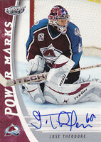 06-07 UD Power Play Jose Theodore Auto Power Marks Avalanche 2006 Upper Deck
