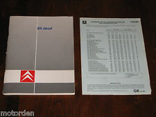 CITROEN BX Diesel ENGLISH language INSTRUCTION BOOK BX17 BX19 Turbo, FREE POST!