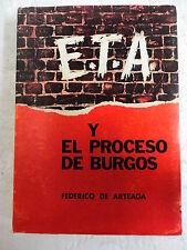 ETA y el Proceso de Burgos,Federico De Arteaga,Editorial E.Aguado 1971