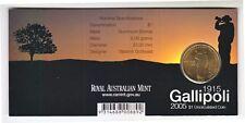 2005 Gallipoli 90th Anniversary $1 Coin - Melbourne 'M' Mintmark