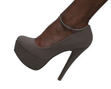 Taupe Beige Brown Suede Nubuck Platform Pumps Stiletto Heels Shoes 7 Qupid
