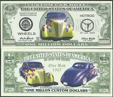 Lot of 500 - CUSTOM CAR WITH FLAMES MILLION DOLLAR NOVELTY BILLS