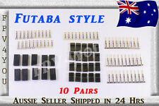 FUTABA SERVO PLUGS Gold Plated x10 Pairs Connectors PLUGS Terminals HIGH QUALITY