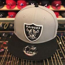 New Era Oakland Raiders Snapback Hat Cap GREY/BLACK