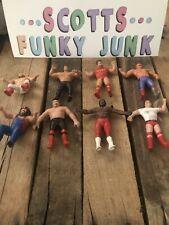 LJN Lot WWF Wrestling Superstars  Bendy figure Plus Thumb Wrestlers