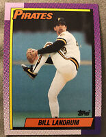 1990 Topps Bill Landrum Baseball Card #425 Pittsburgh Pirates Mid-To-High Grade