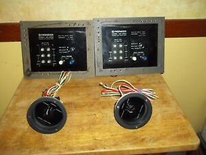 2-Pioneer CS-A500 Speaker Crossovers With Level Controls