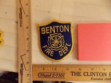 BENTON FIRE DEPT PATCH ARKANSAS IOWA IA (LOT G )