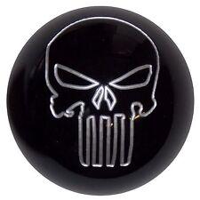 Black w/ Silver Punisher Skull shift knob automatic M8x1.25