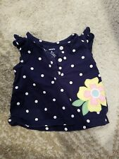 Carter's 3 Month Old Girls Shirt With Dots And A Flower