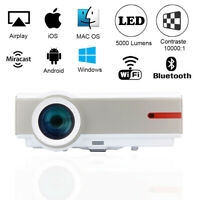 WIFI Videoprojecteur Android 1080P Natif FULL HD LED Bluetooth USB HDMI 5000 LM