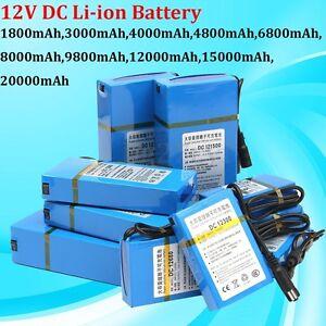 DC 12V 1800-20000mAh Rechargeable Portable Power Li-ion Battery For CCTV [#9