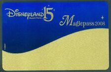 PASSEPORT DISNEYLAND 15 MAGICPASS 2008   TRES BON  ETAT  N°124