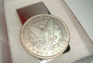 Morgan Dollar O-Mint Coin Token Not Silver Souvenir Silver Tone Money Clip EAGLE