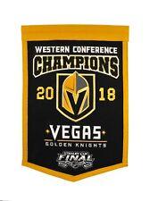 2018 VEGAS GOLDEN KNIGHTS WESTERN CONFERENCE CHAMPIONS BANNER FLEURY KARLSSON