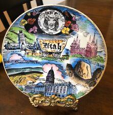 State Of Utah Decorative Plate. 6 Inch Plate Depicting Utah's history & Beauty